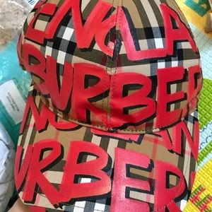 Authentic Burberry graffiti hat